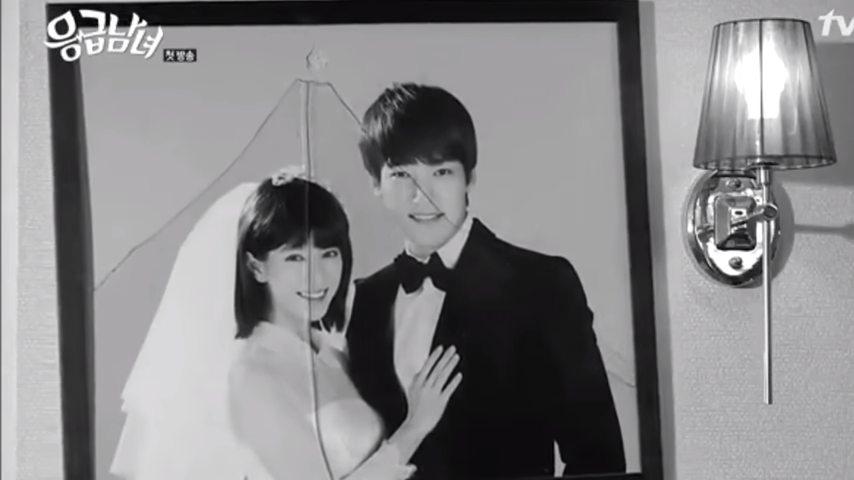 Фотография пары в рамке