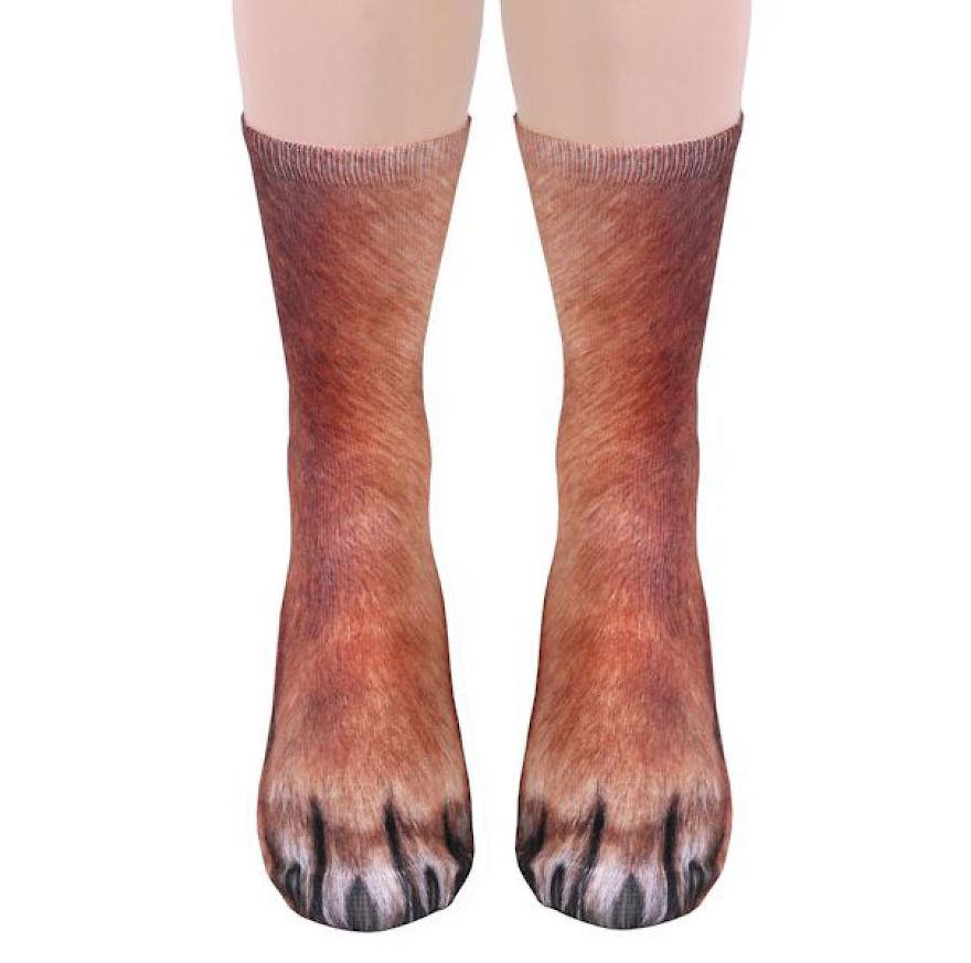 Реалистичные носки сделают ваши ноги похожими на лапы животных