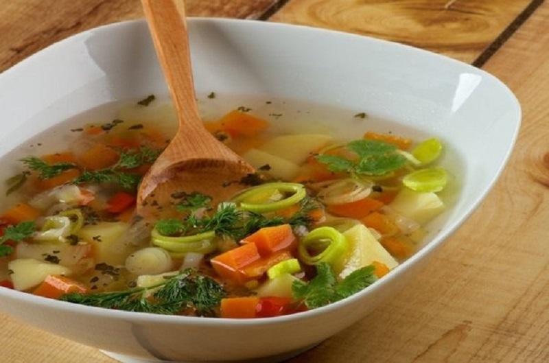 Суп готов к подаче на стол