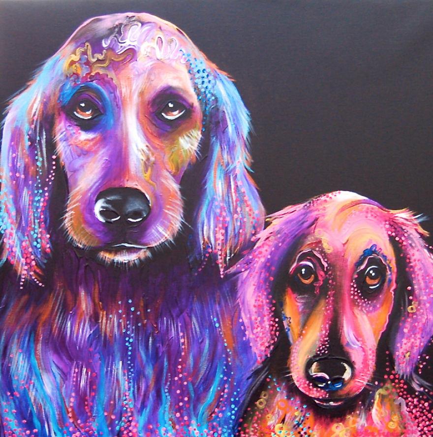 Красивая пара псов
