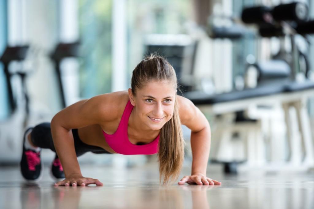Упражнение отжимание для упругости груди