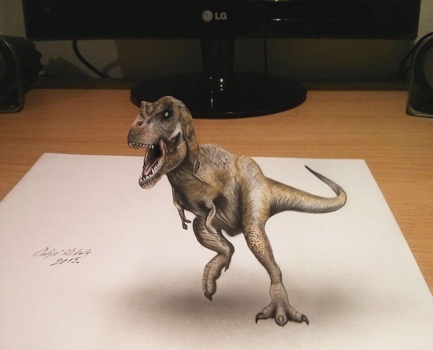 Бегущий тираннозавр рекс