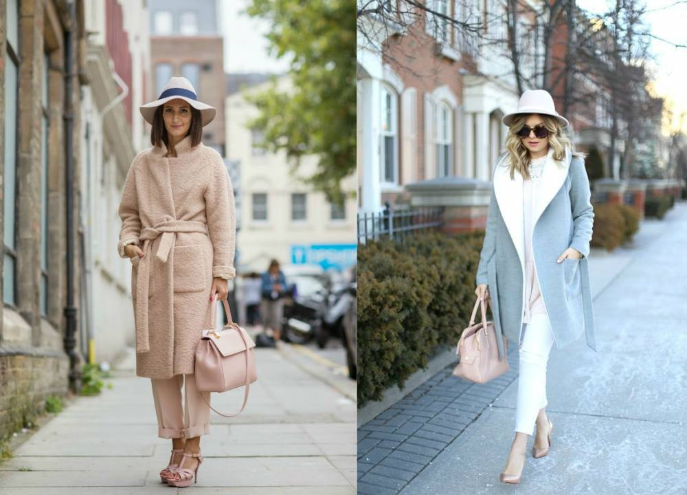 В моде пальто-халат с поясом
