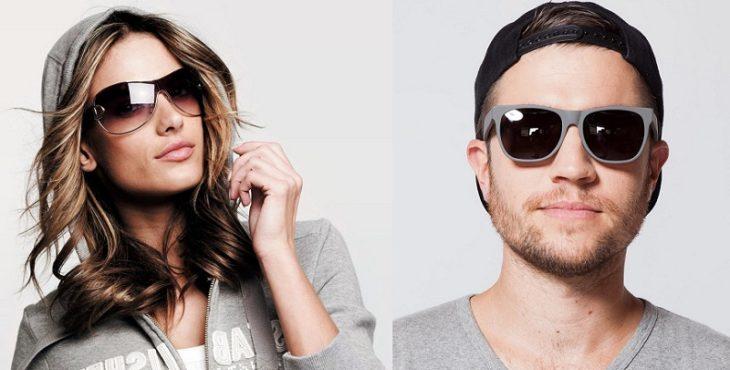 Солнцезащитные пластиковые очки мужские и женские