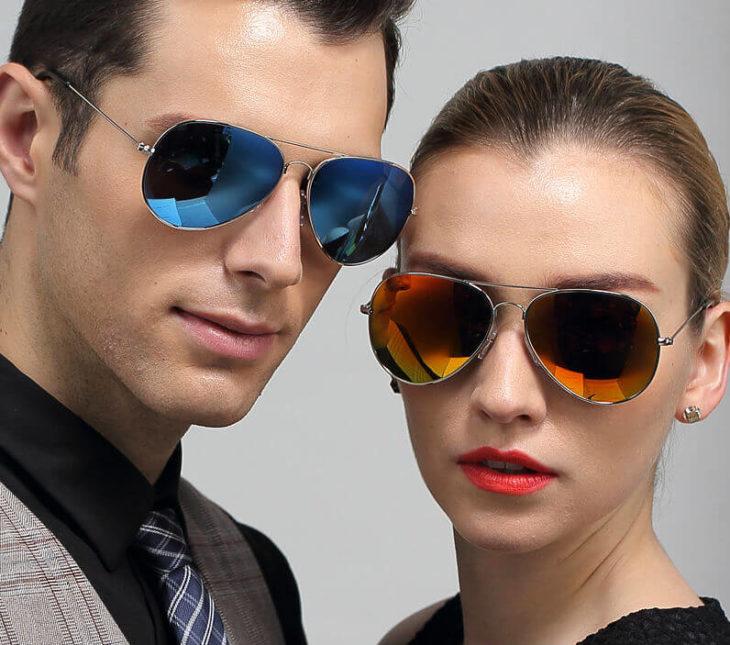 Очки солнцезащитные авиаторы мужские и женские