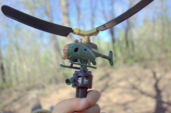 Вертолет с ручным приводом