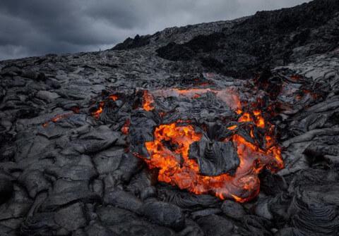 Беспилотник расплавился, подлетая слишком близко к потокам лавы, но успел сделать великолепные снимки