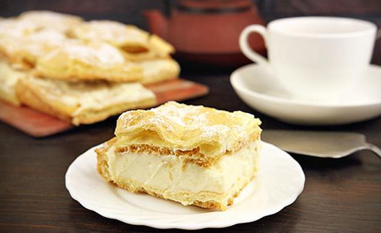 Торт Карпатка из слоёного теста - рецепт пошаговый с фото