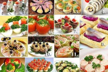 15 новогодних закусок на праздничный стол