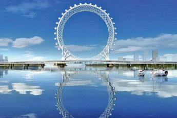 Китайцы построили первое в мире колесо обозрения без оси