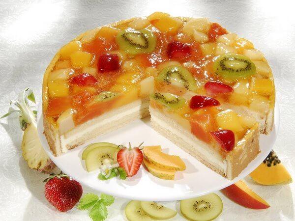 Бисквитный торт «Лимонные льдинки»