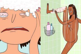 6 весьма странных вещей, которые девушки делают в ванной