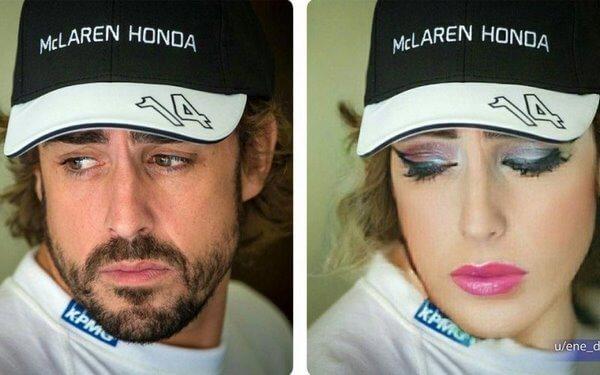 """Пилоты """"Формулы-1"""" внезапно преобразились в прекрасных дам"""