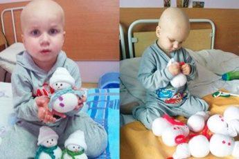 4-летний малыш больной раком своими руками создавал игрушки, чтобы собрать деньги на лечение