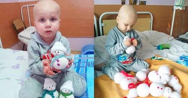 4-летний малыш больной раком своими руками создавал игрушки, чтобы собрать деньги на лечение. До слез!