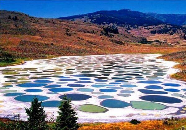Пятнистое озеро, где находится и почему в нем нельзя купаться