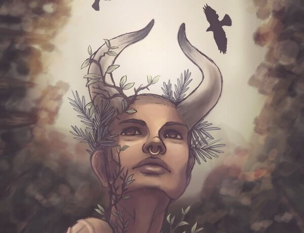 Художница изобразила знаки зодиака в виде мифических богинь