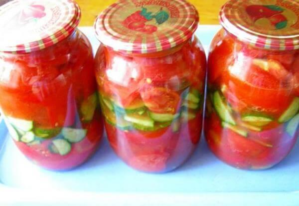 Салат из томатов на зиму, простой рецепт
