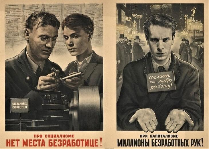 Плакаты СССР о капитализме