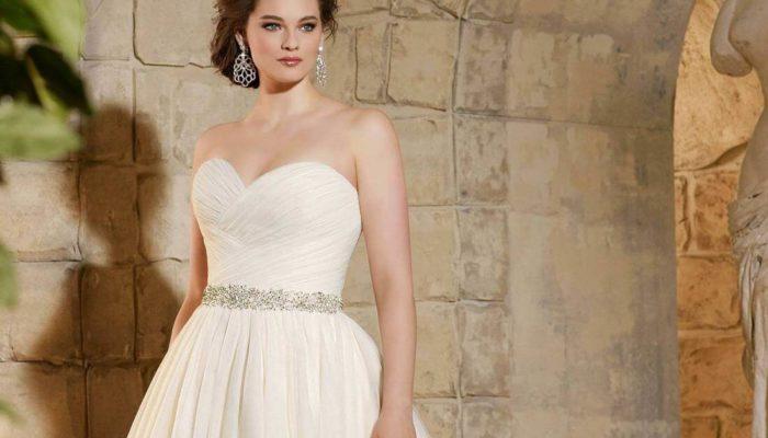 Свадебные платья для полных девушек, фото