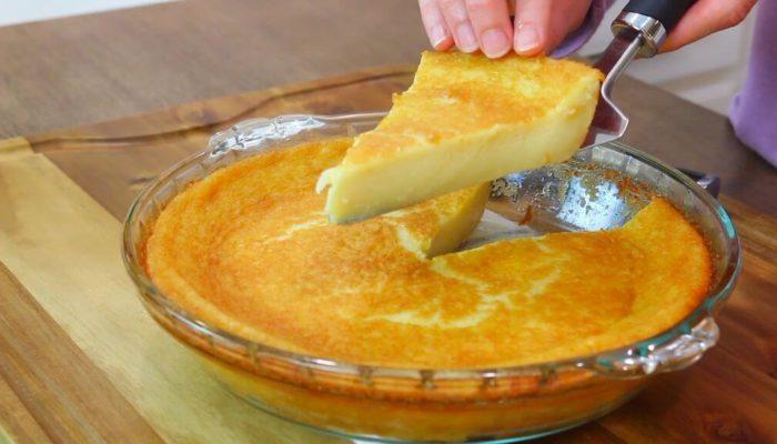 Пирог с заварным кремом без корочки, оригинальный рецепт с фото